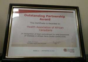 Certificate accompanying the regional Outstanding Partnership Award.